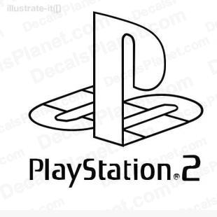 Playstation 2 logo listed in video games decals.