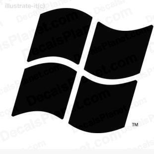 Microsoft Windows basic logo listed in computer decals.