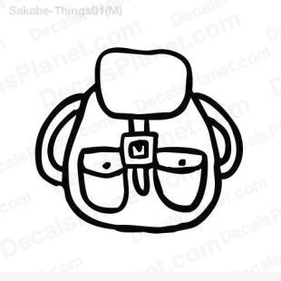 Backpack listed in cartoons decals.