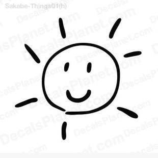 Happy sun listed in cartoons decals.