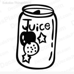 Juice can listed in cartoons decals.