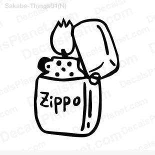 Lighter (with Zippo inscription) listed in cartoons decals.