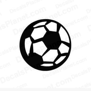Soccer ball (UK football) listed in sports decals.