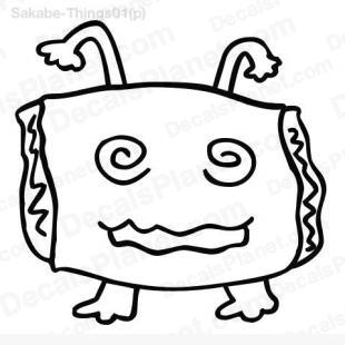 Pillow head (dizzy and sleepy) listed in cartoons decals.