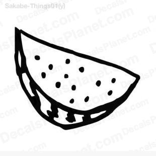 Slice of watermelon listed in cartoons decals.