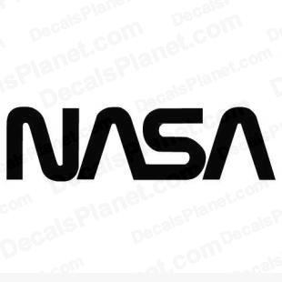 NASA original logo listed in aircrafts decals.