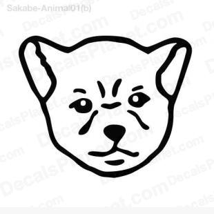 Dog head listed in animals decals.
