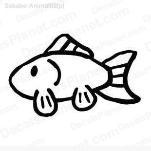 Goldfish listed in animals decals.
