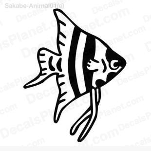Ocean fish listed in animals decals.