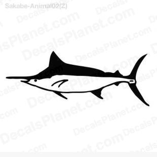 Swordfish listed in animals decals.