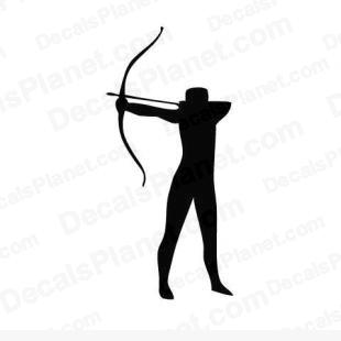 Archery listed in sports decals.
