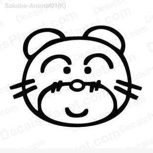 Bear face drawing listed in cartoons decals.
