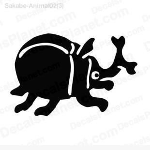 Beetle drawing full  listed in cartoons decals.