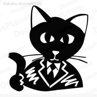 Cat in a suit listed in cartoons decals.