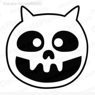 Cat skull listed in cartoons decals.