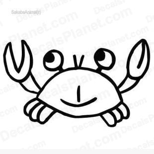 Crab 2 listed in cartoons decals.