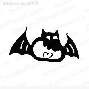 Evil bat 4 listed in cartoons decals.