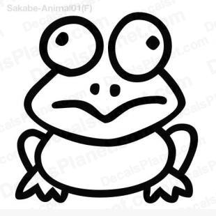 Frog simple drawing listed in cartoons decals.