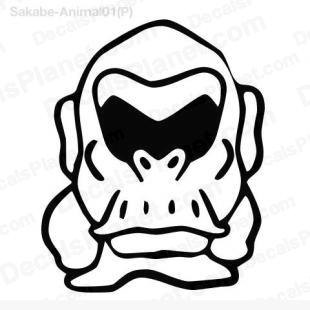 Gorilla drawing listed in cartoons decals.