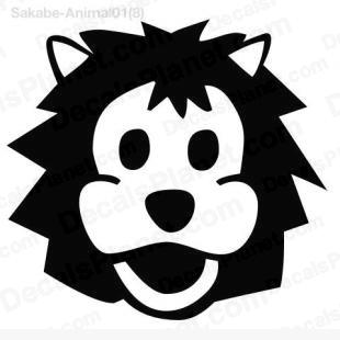 Lion head listed in cartoons decals.