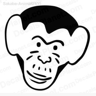 Monkey head drawing 1 listed in cartoons decals.