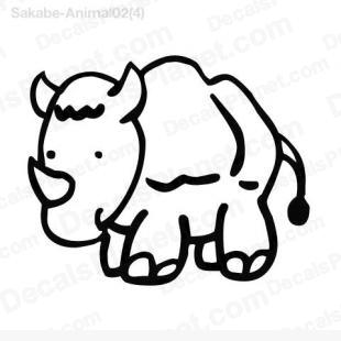 Rhinoceros scribbled 1 listed in cartoons decals.