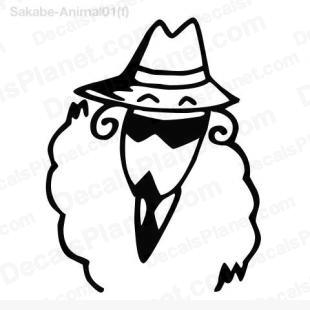 Sheep in a suit listed in cartoons decals.