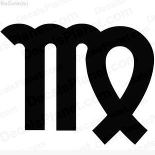 Virgo sign listed in zodiac decals.