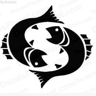 Pisces listed in zodiac decals.
