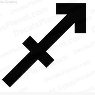 Sagittarius sign listed in zodiac decals.