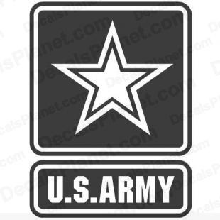 US Army (United States Army) logo listed in firearm companies decals.