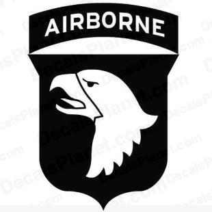 101st Airborne Division United States logo listed in firearm companies decals.