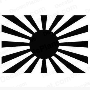 Japanese Imperial Army Flag listed in firearm companies decals.