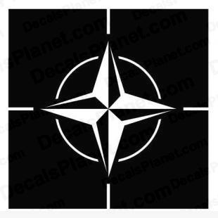 North Atlantic Treaty Organization (NATO) logo listed in firearm companies decals.