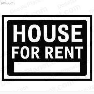 House for rent sign listed in useful signs decals.