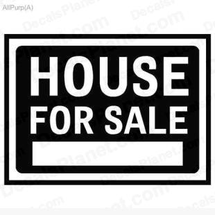 House for sale sign listed in useful signs decals.