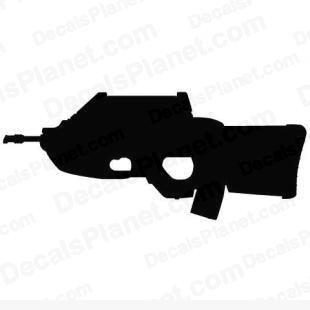 FN F2000 listed in firearm companies decals.