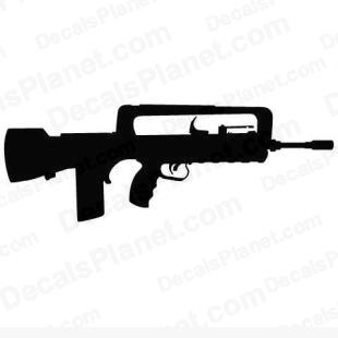 FN FAMAS listed in firearm companies decals.