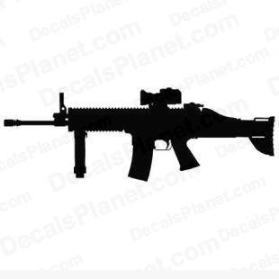 FN SCAR (SCAR-L or Mk16) listed in firearm companies decals.