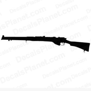 Lee Enfield rifle listed in firearm companies decals.