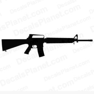 Colt M16A2 listed in firearm companies decals.