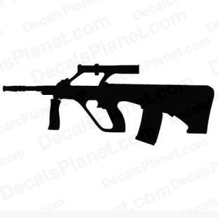 Steyr Aug A1 listed in firearm companies decals.