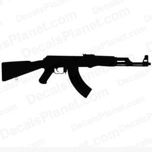 Ak47 listed in firearm companies decals.