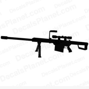 Barrett M82 listed in firearm companies decals.