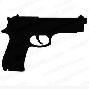 Beretta M92FS listed in firearm companies decals.