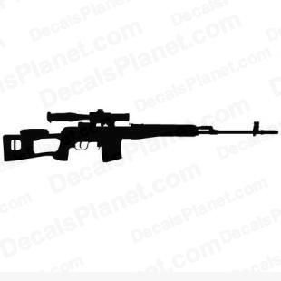 Dragunov SVD listed in firearm companies decals.