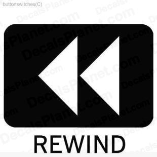 Rewind button listed in useful signs decals.
