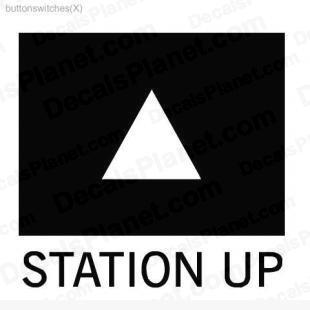 Station up button listed in useful signs decals.