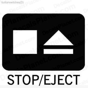 Stop Eject button listed in useful signs decals.