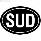 SUD country sign